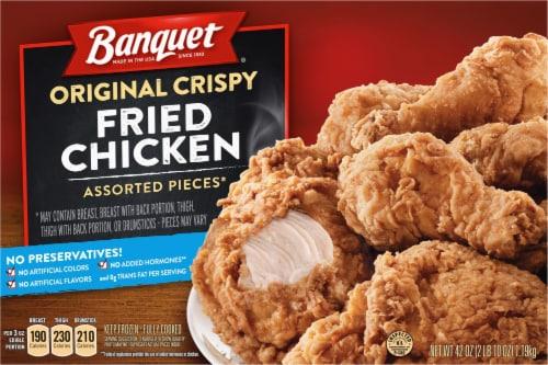 Banquet Original Crispy Fried Chicken Assorted Pieces Perspective: front