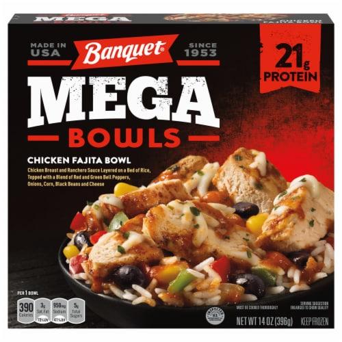 Banquet Mega Bowls Chicken Fajita Bowl Dinner Perspective: front