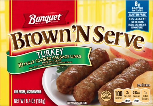 Banquet Brown'N Serve Turkey Sausage Links Perspective: front