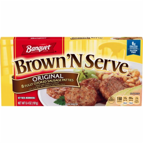Banquet Brown'N Serve Original Sausage Patties Perspective: front