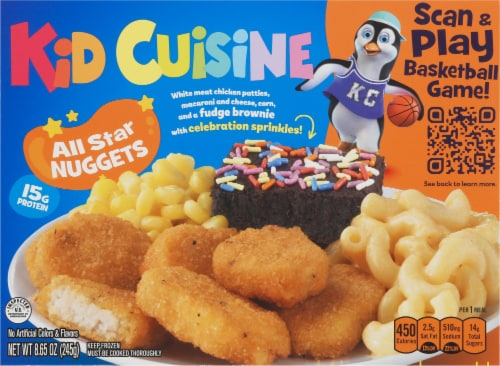 Kid Cuisine All Star Chicken Breast Nuggets Frozen Meal Perspective: front