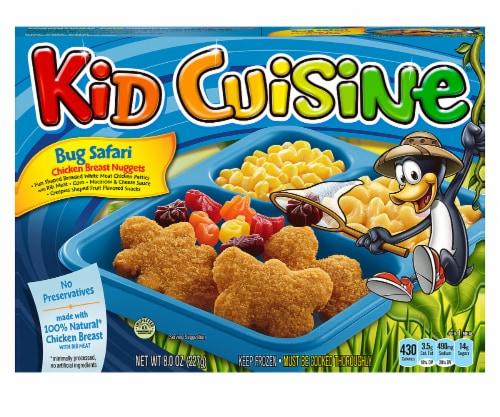 Kid Cuisine Bug Safari Chicken Breast Nuggets Perspective: front