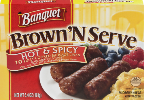 Banquet Brown 'N Serve Hot & Spicy Sausage Links Perspective: front
