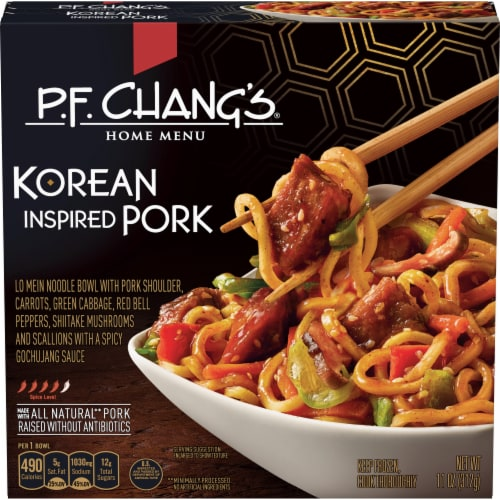 P.F. Chang's Home Menu Korean Inspired Pork Noodle Bowl Perspective: front