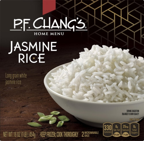 P.F Chang's Home Menu Steamed Jasmine Rice Meal Perspective: front