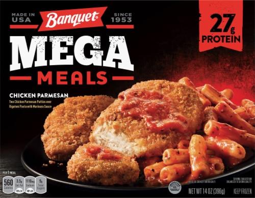 Banquet Mega Meals Chicken Parmesan Frozen Meal Perspective: front