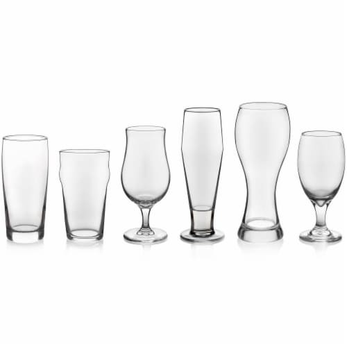 Libbey Craft Brews Assorted Beer Glasses Set Perspective: front