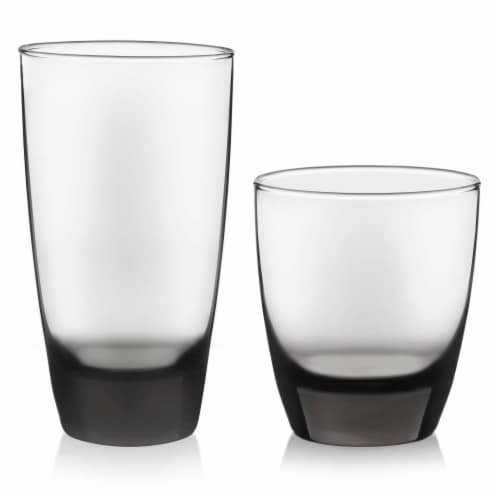 Libbey Classic Smoke Tumbler and Rocks Glass Set Perspective: front