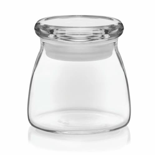 Libbey Vibe Mini Glass Jars with Lids Set Perspective: front
