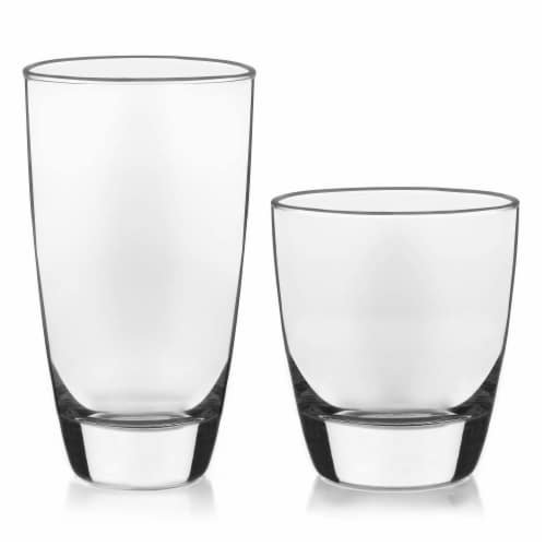 Libbey Classic Glass Tumbler and Rocks Set Perspective: front