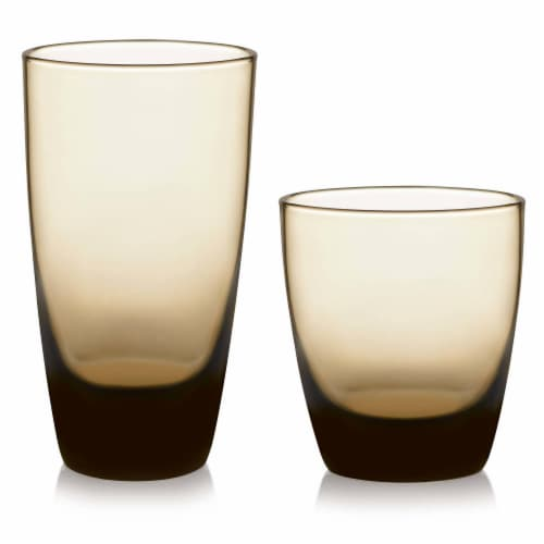 Libbey Classic Mocha Tumbler and Rocks Glass Set Perspective: front