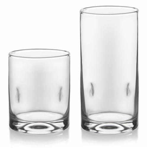 Libbey Impressions Tumbler and Rocks Glass Set Perspective: front