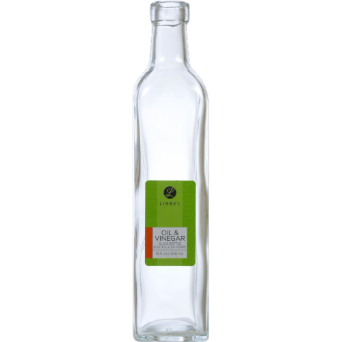 Libbey Glass Oil & Vinegar Bottle - Clear Perspective: front