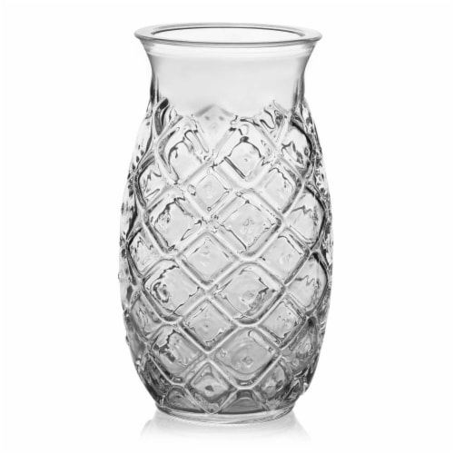 Libbey Tiki Pineapple Glasses Set Perspective: front