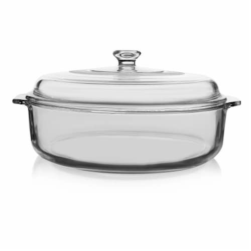 Libbey Baker's Basics Glass Casserole Dish with Cover Perspective: front