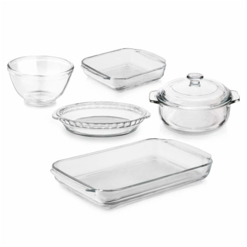 Libbey Baker's Basics Glass Casserole Baking Dish Set Perspective: front