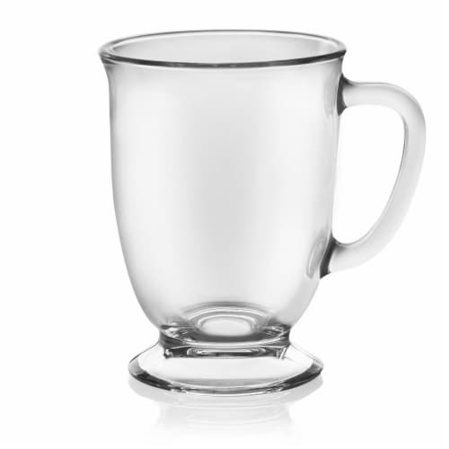 Libbey Kona Glass Coffee Mugs Perspective: front