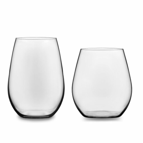 Libbey Signature Kentfield Stemless Wine Glass Party Set Perspective: front
