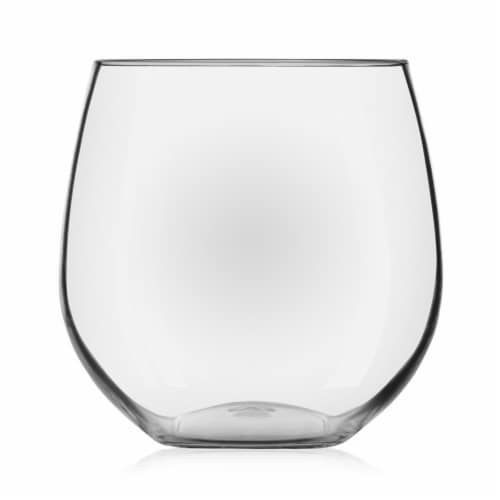 Libbey Indoors Out Break-Resistant Stemless Red Wine Glasses Set Perspective: front