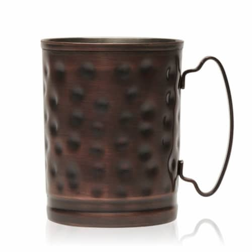 Libbey Moscow Mule Hammered Copper Mugs Set Perspective: front