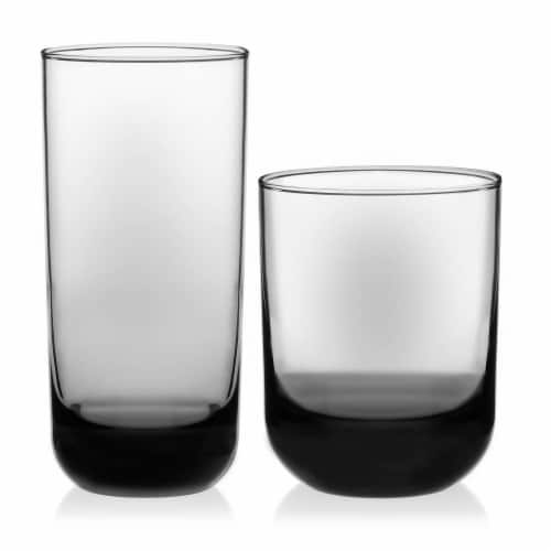 Libbey Polaris Tumbler and Rocks Glass Set Perspective: front