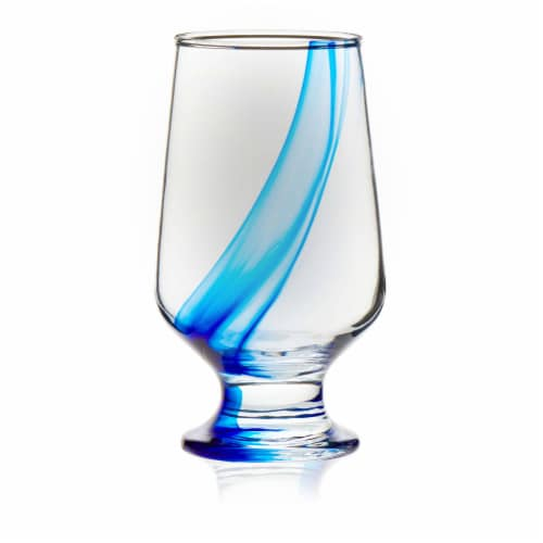 Libbey Blue Ribbon Goblet Beverage Glasses Set Perspective: front