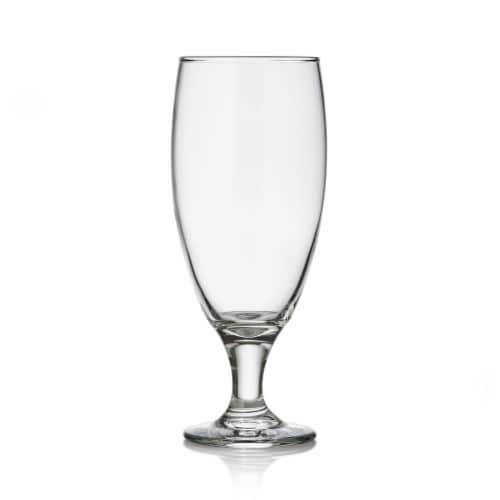 Libbey Craft Brews Nucleated Pilsner Beer Glasses Set Perspective: front