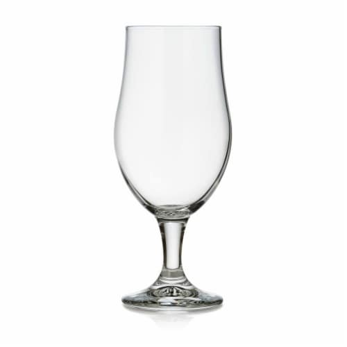 Libbey Craft Brews Nucleated Belgian Beer Glasses Set Perspective: front