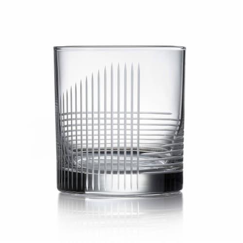 Libbey Cut Cocktails Passage Rocks Glasses Set Perspective: front