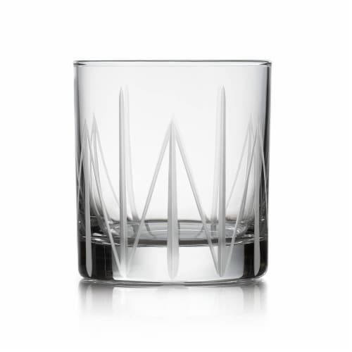 Libbey Cut Cocktails Structure Rocks Glasses Set Perspective: front