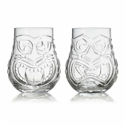 Libbey Tiki Split Tumbler Glasses Set Perspective: front