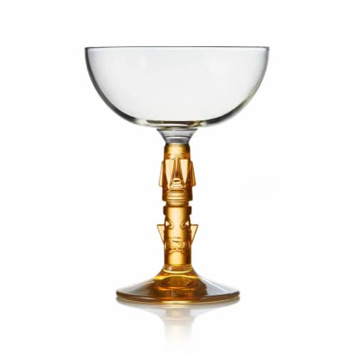 Libbey Tiki Coupe Cocktail Glasses Perspective: front