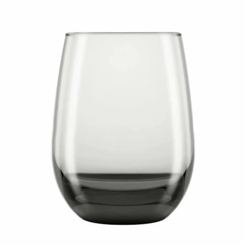 Libbey Classic Smoke All-Purpose Stemless Wine Glasses Set Perspective: front