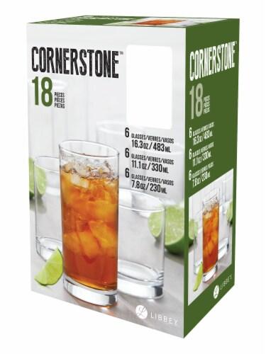 Libbey Cornerstone Glassware Set Perspective: front