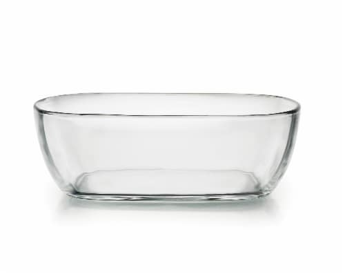 Libbey Serve It Bowl with Lid - Clear / Red Perspective: front