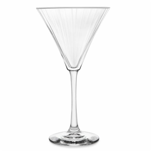 Libbey Paneled Martini Glasses Set Perspective: front