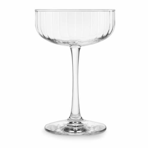 Libbey Paneled Coupe Cocktail Glasses Set Perspective: front
