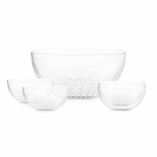 Libbey Merida Salad Bowl Set - Clear Perspective: front