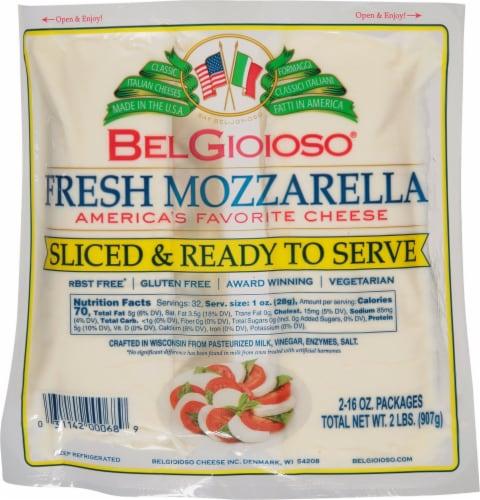 BelGioioso Fresh Mozzarella Log Perspective: front
