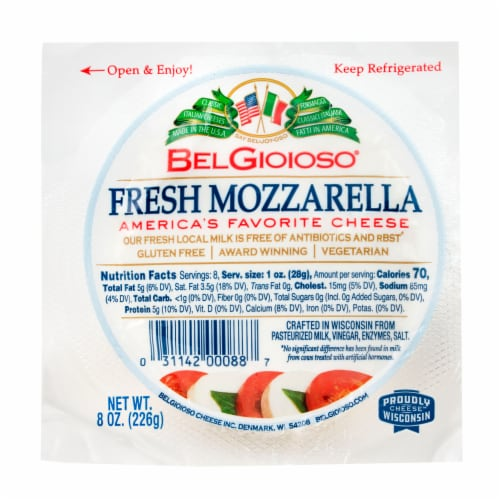 BelGioioso Fresh Mozzarella Cheese Perspective: front