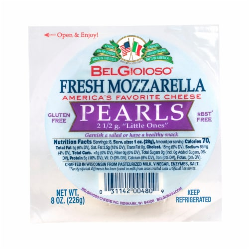Bel Gioioso Fresh Mozzarella Pearls Cheese Perspective: front