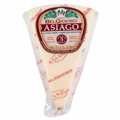 Bel Gioioso Asiago Cheese Perspective: front