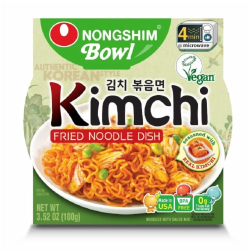 Nongshim Kimchi Fried Noodle Dish Perspective: front