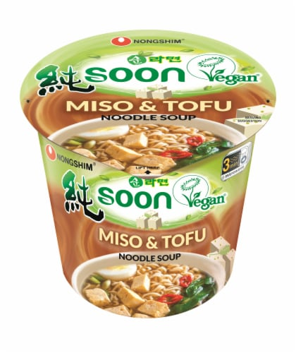 Nongshim Soon Miso & Tofu Noodles Perspective: front
