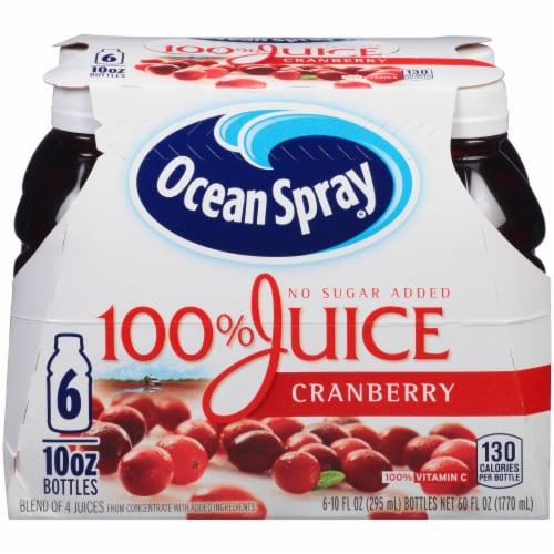 Ocean Spray No Sugar Added 100% Cranberry Juice Perspective: front