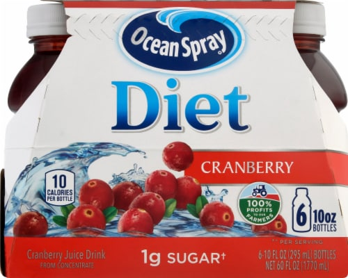 Ocean Spray Diet Cranberry Juice Drink Perspective: front