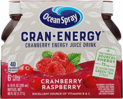 Ocean Spray Cran-Energy Raspberry Cranberry Energy Juice Drink Perspective: front