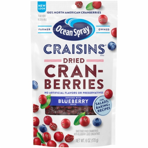 Ocean Spray Blueberry Craisins Perspective: front