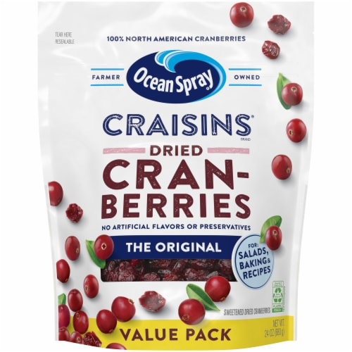 Ocean Spray Original Craisins Dried Cranberries Perspective: front