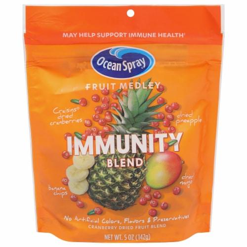 Ocean Spray Fruit Medley Immunity Blend Cranberry Dried Fruit Blend Perspective: front